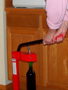 corking wine