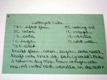 Cockeyed Cake